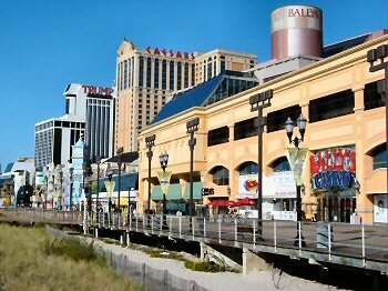 BALLY'S ATLANTIC CITY VIEW FROM BOARDWALK
