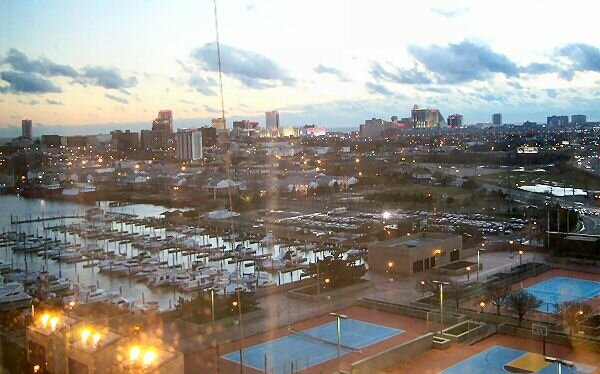 atlantic city, view from trump marina