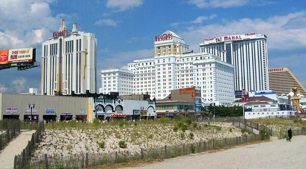 casinos, view from pier