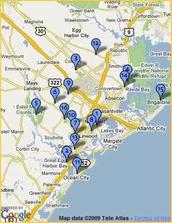 map of golf courses near atlantic city nj