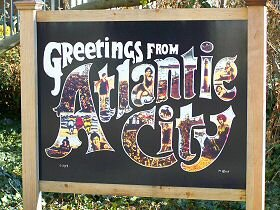 atlantic city greetings sign