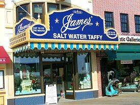 james salt water taffy shop - boardwalk atlantic city