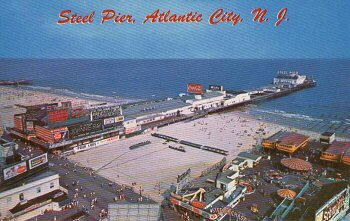 The Steel Pier Postcard, Atlantic City