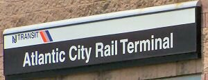 atlantic city rail terminal sign