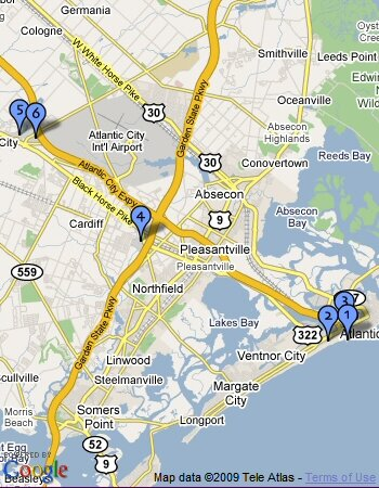map of shopping near atlantic city