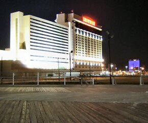ATLANTIC CITY SHOWBOAT CASINO AT NIGHT