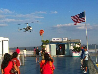 helicopter rides at the steel pier
