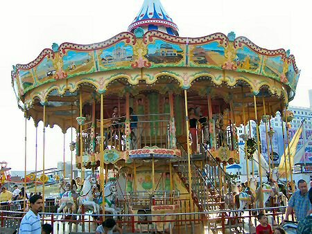 merry go round at the steel pier