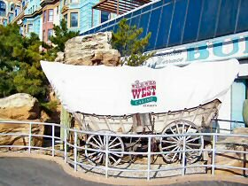 from the boardwalk outside the wild wild west casino
