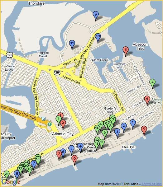 Resorts Atlantic City Map